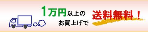 1万円以上のお買い上げで送料無料!
